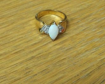 Vintage Opal and gold (stamped 925) ring