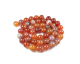 Fire Agate beads natural 8mm LBP00050 5