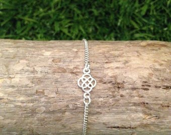 Bracelet chain and filigree 925 sterling silver charm