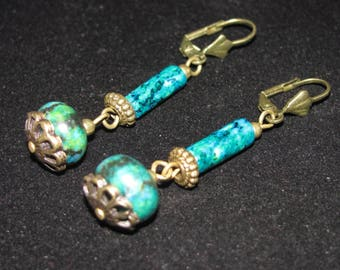 Chrysocollas antique fashion earrings