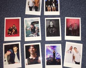 Twenty One Pilots Polaroids Mini Vintage Style Set of 10