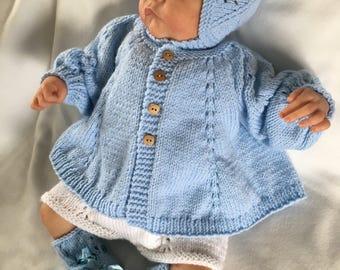 Newborn knitted romper set