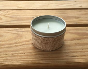 All Natural, Hand Poured Soy Candle with Eucalyptus Essential Oils