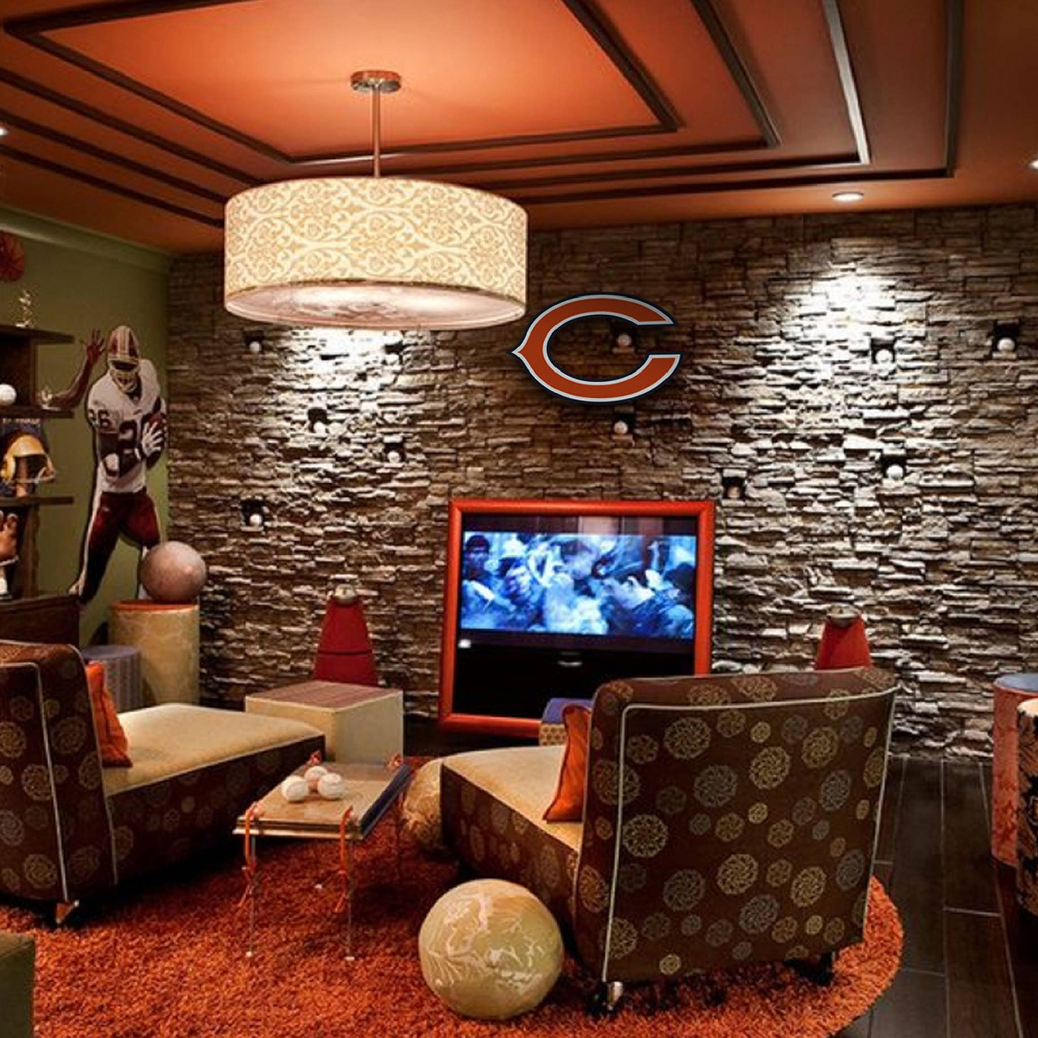 Chicago Bears Decor Wall Boy Room Football