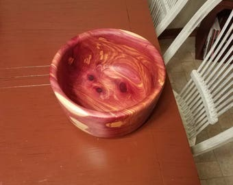 Large solid Cedar bowl
