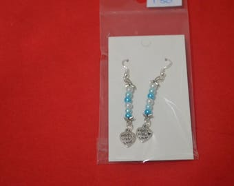 Blue Made With Love Earrings