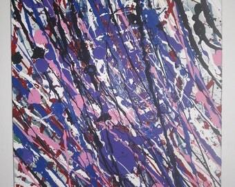 Painting Abstract Purple by Lulu Beltran