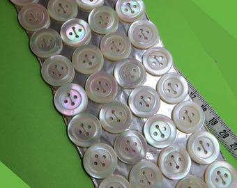 Set of 36 buttons MOP 1.5 cm (36) - #2004_15