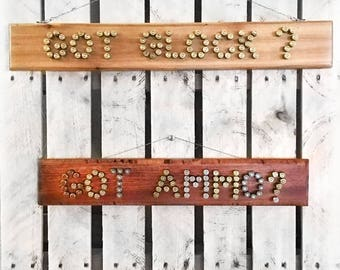 Handcrafted Ammo Signs