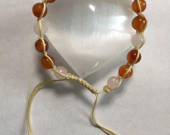 Rose Quartz and Sardonyx bracelet.