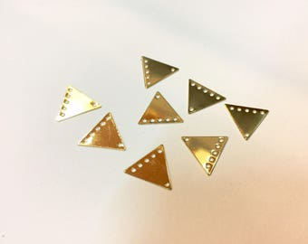 10 spacer triangles 13x15mm Golden jewellery designs