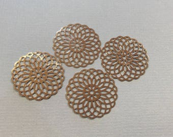 prints 10 spacer metal rosette 20mm rhodium plated jewelry headband