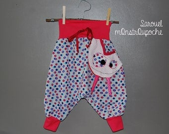 With small removable Pocket original harem pants in the shape of Monster.