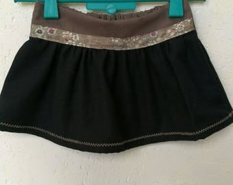 """Pretty skirt """"Ninon"""" T 3 years in cotton lined with bias tape elastic back"""