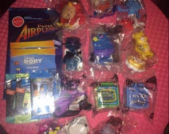 Collectable Small Toys from Burger King, Subway and Restaurant, the Toys come with their Happy Meals or Kids Meals