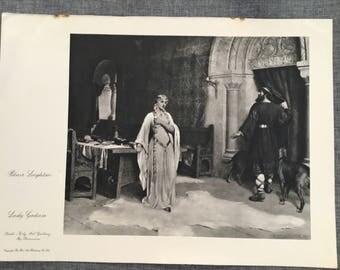 Blair Leighton. Lady Godiva. 1920's antique print