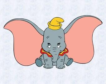 Dumbo SVG, dumbo clipart, elephant svg, elephant baby, kids svg, children svg, dumbo cut file cricut, silhouette cameo