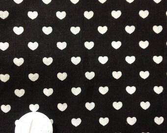 coupon 50 X 50 cm patchwork fabric / black heart