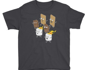 Camping S'mores Youth T-Shirt