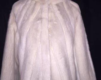Light grey/blue mink bolero jacket