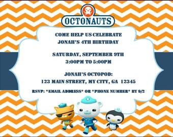 Octonauts Birthday Invitations - Customized