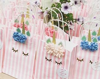 1 x Handmade Unicorn Party Bag, Unicorn Favours, Unicorn Party, Unicorn party supplies