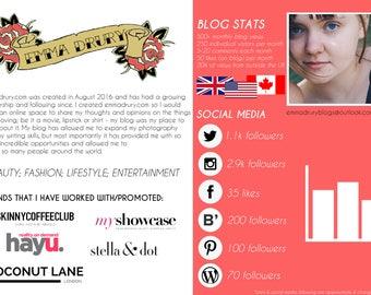 Blogger Media Kit