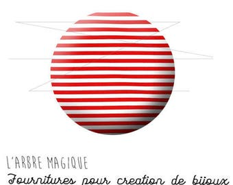 2 cabochons glue sailor red and white ref 1456 - 16 mm-