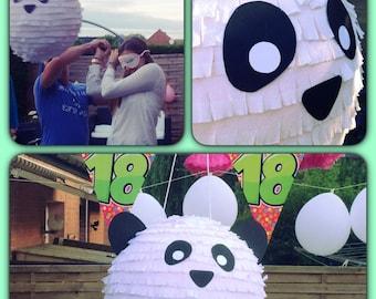 black and white panda pinata 60cm round