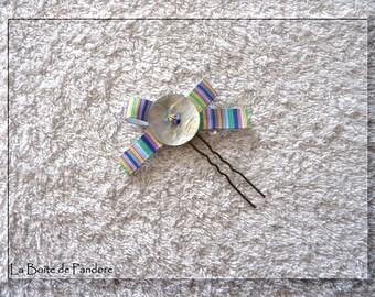 Polka dots and stripes hair pin