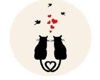 cat lovers, 20 mm (cheep cheep series)