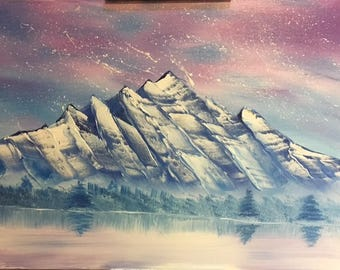Snowy Mountain. Original Oil Painting. Made to Order.
