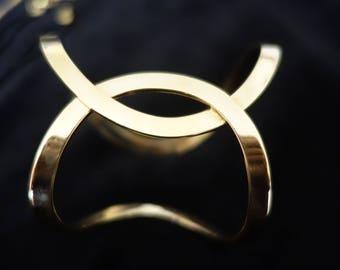 18K Gold Designer Handmade Cuff Bracelet