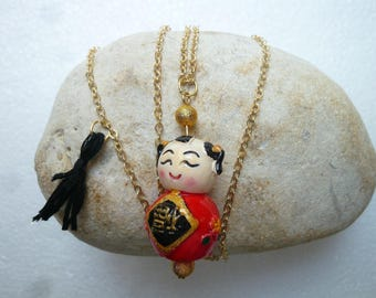 Long pendant necklace Chinese and tassel