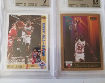 Graded michael jordan basketball cards