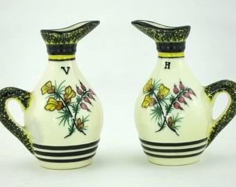 Oil / vinegar vintage Henriot Quimper faience