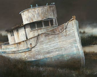 "Point Reyes: Canvas Reproduction 44"" x 30"""