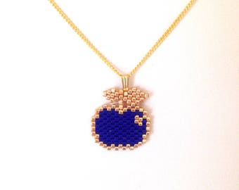Blue Apple Choker necklace