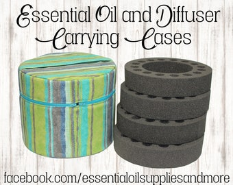 Essential Oil Diffuser Carrying Case, Essential Oil Bag, Oil Storage Pouch, Travel Bag, Aromatherapy, Young Living, Doterra, Apothecary