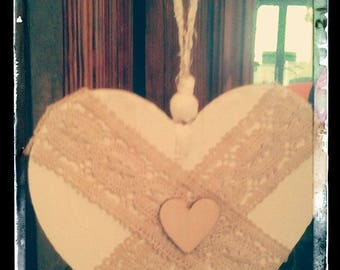 LACE WOOD HEART