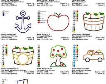 10 Different Applique Machine Embroidery Designs SET 2