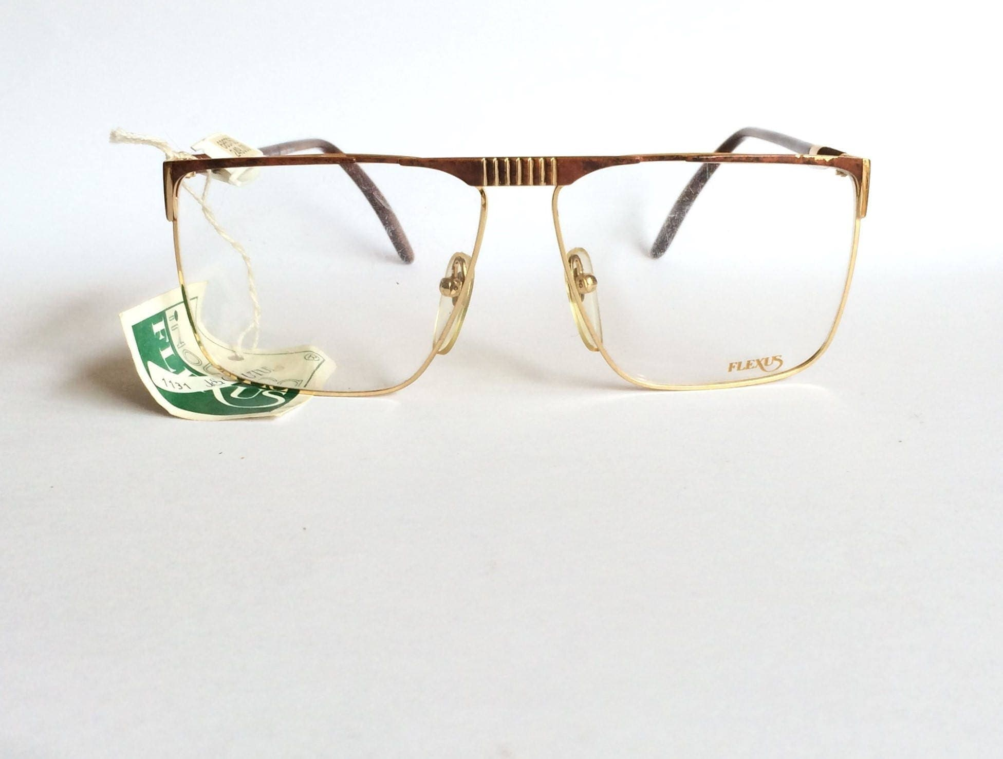 7a9c392d127 Deadstock vintage 1980 s Flexus 592 Flat Top Glasses Pop Art coloured frame  made in Italy by