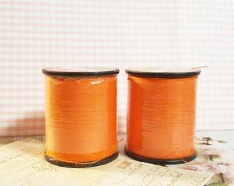 Orange  Color Thread / Polyester Thread on 200 yard Spools / Sewing Thread