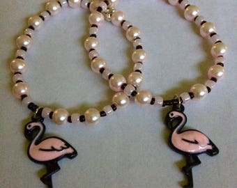 Handmade Children's Flamingo Bracelet