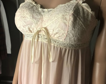 Vintage Lace / Silk Nightgown