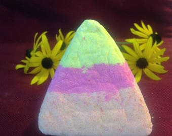 Summer Citrus Candy Corn Bath Bomb
