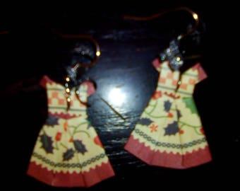 Origami dresses winter earrings