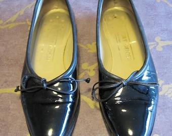 Women's vintage black patent leather shoes Kurt Geiger