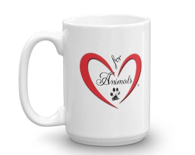Heart of Love for Animals - Mug - Made in the USA