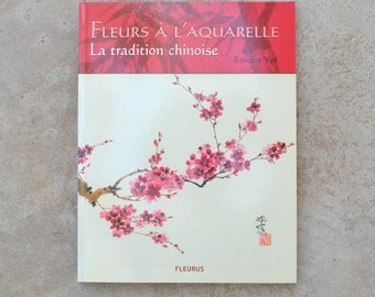 paper flowers in Chinese tradition watercolor - painting